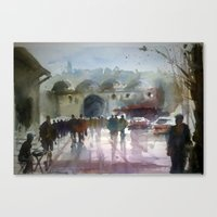 istanbul Canvas Prints featuring ISTANBUL by Baris erdem