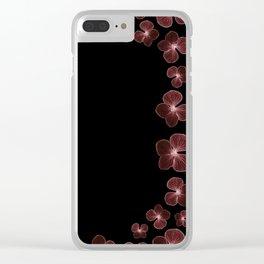Hydrangea in deep maroon reds... Clear iPhone Case