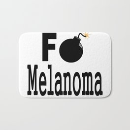 F Bomb Melanoma Bath Mat