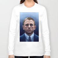 bond Long Sleeve T-shirts featuring James Bond by Vincent Leung