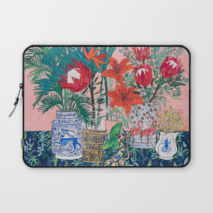 The Domesticated Jungle - Floral Still Life Laptop Sleeve