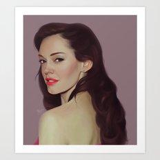 Rose McGowan Art Print