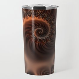 In the Arms Of Someone, Abstract Fractal Art Travel Mug