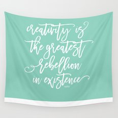 creativity rebellion Wall Tapestry