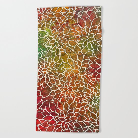 Floral Abstract 15 Beach Towel