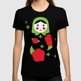 Pop-art Russian Doll Matryoshka T-shirt
