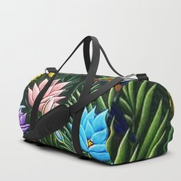 Classical Masterpiece 'Tropical Birds and Flying Things' by Henry Rousseau Duffle Bag