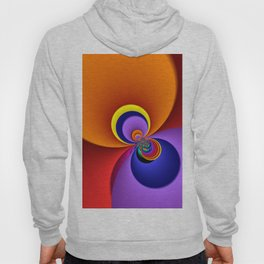 time for fractals -5- curtain Hoody