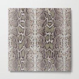 Snake Skin Metal Print