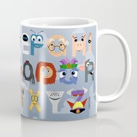 pixar Mugs featuring P is for Pixar (Pixar Alphabet) by Mike Boon