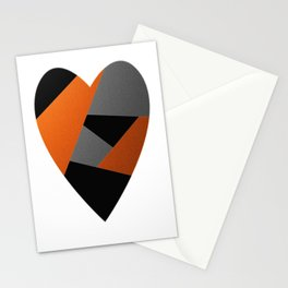 Metal Heart Stationery Cards
