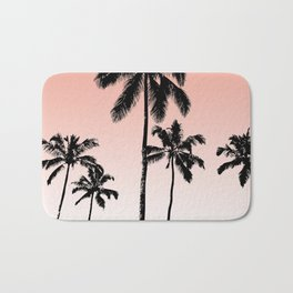 Sunset palms Bath Mat