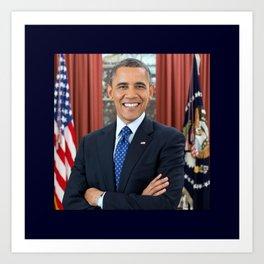 official portrait of Barack Obama Art Print