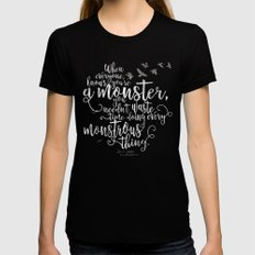 Six of Crows - Monster - Black Black X-LARGE Womens Fitted Tee