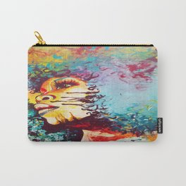 Unstrained Afro Blue Carry-All Pouch