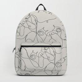 One Line French bulldog Backpack