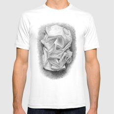 drape Mens Fitted Tee SMALL White