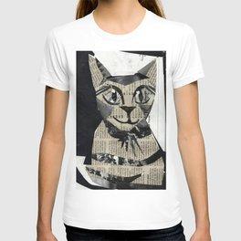 Newspaper Cat T-shirt