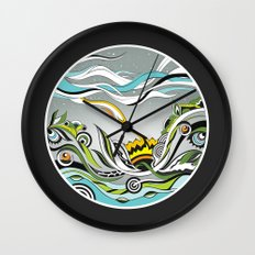 When the Earth meets the Sky Wall Clock
