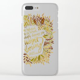 Zelda Fitzgerald – Fall Palette Clear iPhone Case