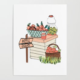 Apple Stand Poster