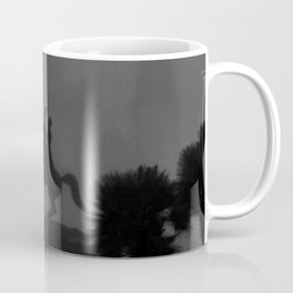 New Orleans, Jackson Square in fog, French Quarter black and white photograph / black and white photography Coffee Mug