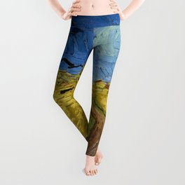 Wheat Field with Crows, Vincent Van Gogh Leggings