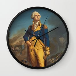 George Washington - Military Portrait Wall Clock