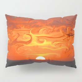Fluid sunset in Sperlonga (Italy) Pillow Sham