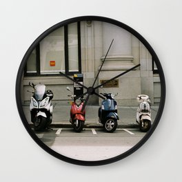 Scootn' Round Town Wall Clock