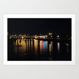 Bow River at Night Art Print