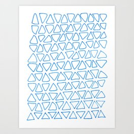 little blue triangles Art Print