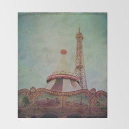 Bohemia of Paris Throw Blanket
