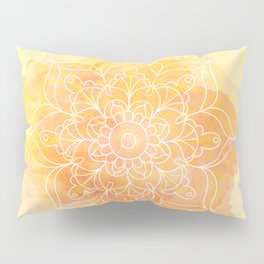 Watercolor Mandala // Sunny Floral Mandala Pillow Sham