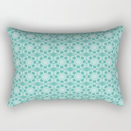 Project 503  |  White Lace on Teal Green Rectangular Pillow