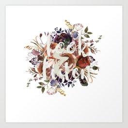 Look & Listen Floral Art Print