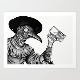 Plague brews Art Print