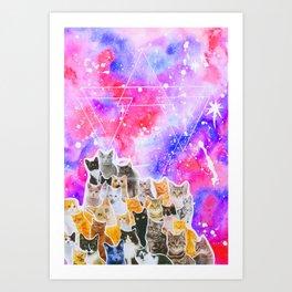 Catsplosion Art Print