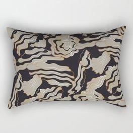Golden Black – a Touch of Drama Rectangular Pillow
