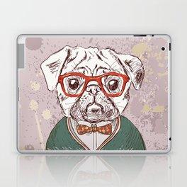 Hipster pug Laptop & iPad Skin