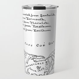 Vintage Map of Cape Cod (1890) Travel Mug