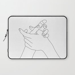 Hands line drawing illustration - Esmie Laptop Sleeve
