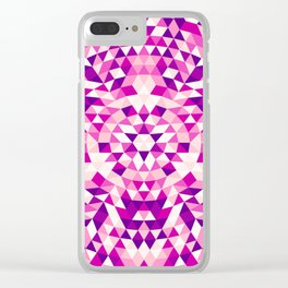 Pink Shards Clear iPhone Case