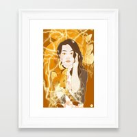 kitsune Framed Art Prints featuring Kitsune  by Inkforwords