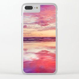 Purple silk Clear iPhone Case