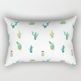 Summer pattern with cacti and yellow cats ! Rectangular Pillow