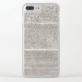 The Rosetta Stone // Antique White Clear iPhone Case