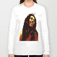 reggae Long Sleeve T-shirts featuring the god of reggae by  Agostino Lo Coco