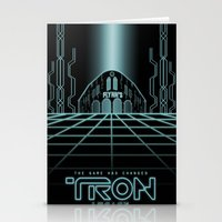 tron Stationery Cards featuring Tron Legacy by Yuri Meister