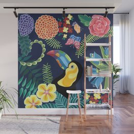 Natures Confetti Toucan Wall Mural